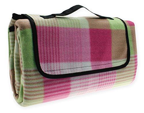 Picknickdecke Karo Strand Decke wasserdicht Picknick 130x170 cm #1527 pink grün