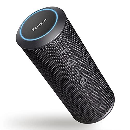 Bluetooth Lautsprecher Zamkol ZK606, HiFi 360° Stereo Sound, Wasserdicht Musikbox, mit Schlüsselband, Mikrofon, Tragbarer Lautsprecher Boxen Bluetooth für PC Handy