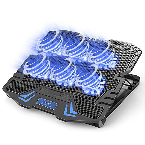 『2021最新進化型・強冷超静音冷却ファン』ノートパソコン冷却パッド 冷却台 6つ冷却ファン搭載 5段階高...