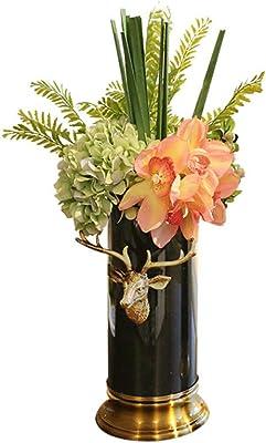 iDecor TS3313-13 Modern Ceramic Vase Brown//Bronze