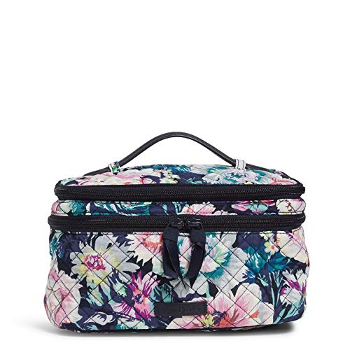 Vera Bradley Women's Organizer Vera Bradley Women s Signature Cotton Brush Up Cosmetic Makeup Case Garden Grove One Size, Garden Grove, One Size US
