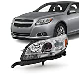 For 13-15 Chevy Malibu LT/LTZ/Eco Models Chrome Headlight Front Lamp Driver Left Side Driect Replacement