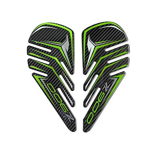 para Kawasaki Z900 Motorycle Fuel Stay Pad Fiber Fibra de Carbono Antideslizante Decorativa Decorativa Etiqueta Etiqueta Decorativa (Color : TJ045C)