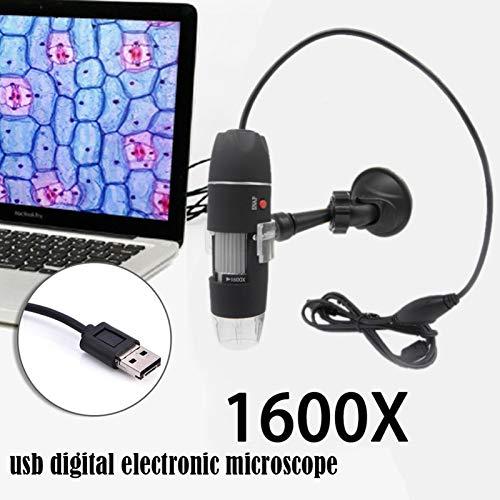 Minsong 1600X Microscopio Digital USB Cámara de endoscopio USB Digital Microscopio de Mano, 8 LED Mini Microscopio Digital Compatible