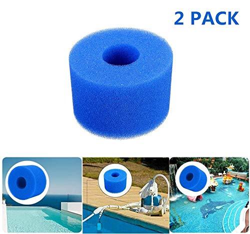 SK-LBB Schwamm für Filterkartusche, Schaumstoff, für Intex Pure Spa, Schaumstoff für Pool-Filter, Schaumstoff-Filter, waschbare Kartusche, 2 Stück