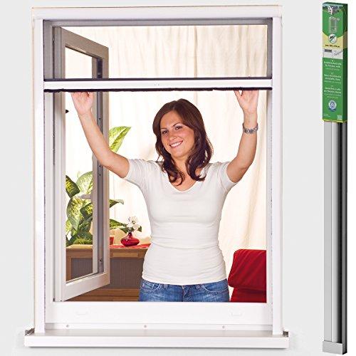 Easy Life Insektenschutzrollo greenLINE Alu Rollo Fliegengitter Fenster mit Alurahmen und hochwertigem Fibergalsgewebe individuell kürzbar, Größe:160 x 170 cm