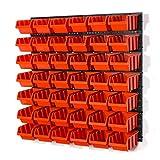 Juego de 42 cubos de almacenamiento en caja de tamaño M y rejilla de pared