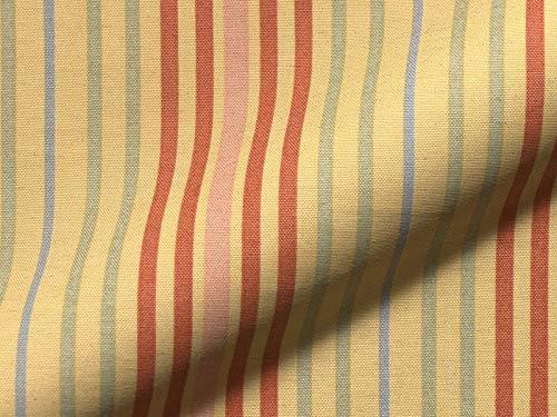 Raumausstatter.de Möbelstoff Porta 723 Streifenmuster Farbe Multicolor als robuster Bezugsstoff, Polsterstoff bunt gestreift zum Nähen und Beziehen, Polyester, Baumwolle, Leinen