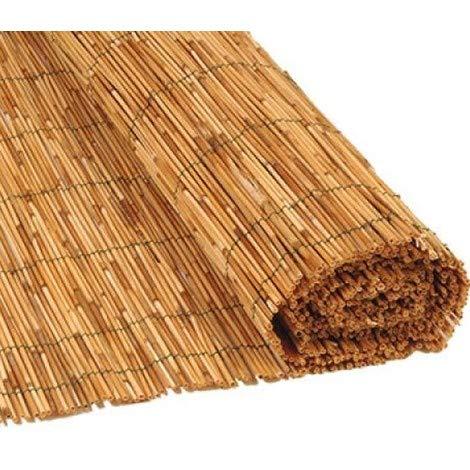 Gruppo Maruccia Arella per recinzioni arella Bamboo ombreggiante canniccio per coperture Varie Misure Disponibili (1,5 x 5 Metri)