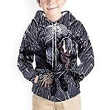 Hflyy Sudadera Capucha Niños Venom Sudadera Estampado 3D Suéter Manga Larga Niños Bolsillo Casual Jersey Spiderman Chándales Sudadera Novedad Jumper Chaquetas Prueba Viento Moda,Black-Kid~120cm