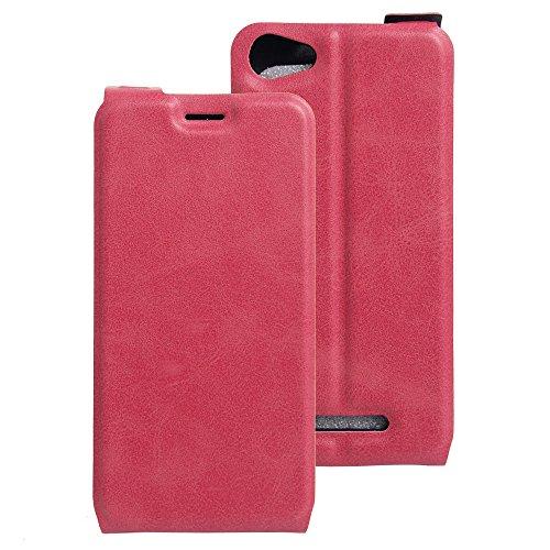 Litao-Case CN Hülle für WIKO K Kool hülle Flip Leder + TPU Silikon Fixierh Schutzhülle Case 2