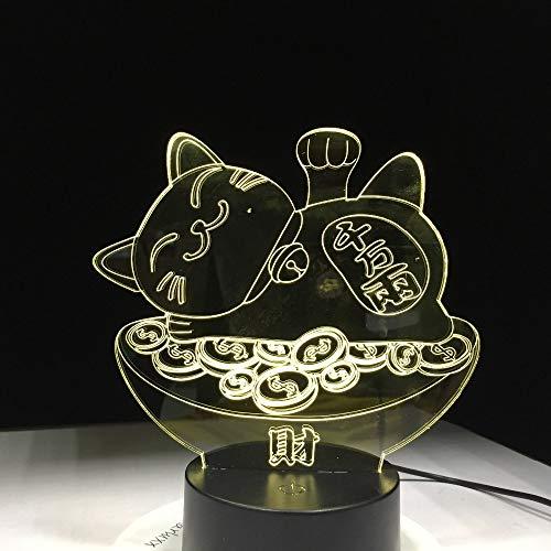 Gold Fortune Cat Light Night Light, Mesa para niños Touch Baby Sleep Night Light