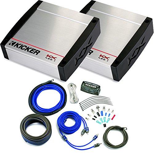 Kicker KX Amplifier Package - Two Kicker KX 400 Watt Class-D Monoblock Amplifiers and Kicker Wiring kit