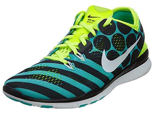 Nike - Free 5.0 Wmns Tr Fit 5 PRT Sneaker Grün Textil 704695 - Schwarz, 37,5