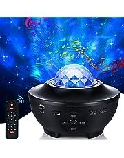Projektor LED gwiaździstego nieba, 21 trybów świecenia, obracające się światło LED, 10 zmieniających się kolorów, projektor światła Nebu z pilotem zdalnego sterowania, głośnik Bluetooth i timerem, do pokoju, na imprezy, na prezent