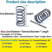 F-MINGNIAN-SPRING 5pcs Fil Diam/ètre 0.2mm Diam/ètre ext/érieur 2 mm Longueur 5 mm /à 50 mm Ressort de Compression Retour Petit Ressort Taille : 0.2x2x50mm 5pcs