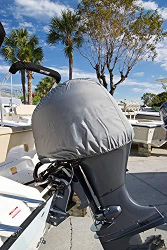 Copertura per Motore fuoribordo, 600D, Impermeabile, rimorchiabile, Universale per Mercury, Yamaha, Suzuki, Evinrude, Grigio