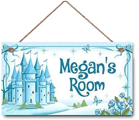 Amazon Com Lpled Personalised Name Kids Bedroom Door Sign Ice Castle Wall Art Sign Custom Wooden Signs Girl Name Hanging Decor Room212 Home Kitchen