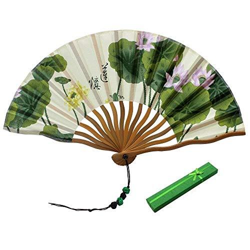 MtniAY Home Ventiladores de Mano Ventiladores Plegables de bambú Abanico Plegable de...