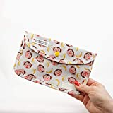 LIVEFISH Estuche Infantil Bolso de mascarilla de Tela con Dibujos Porta mascarillas Almacenamiento de mascarilla Anti Polvo Lavable Plegable (Monos y plátanos)