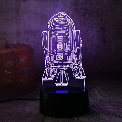 7 kleurverloop USB control nachtlampje acryl raket moderne 3D led lamp kind kind speelgoed verjaardagscadeau sieren