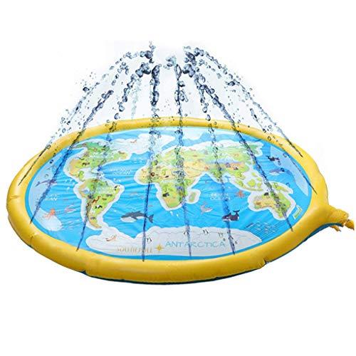 Splash Pad, Outdoor Sprinkler for Kids, Splash Play Mat Om Te Leren, Opblaasbaar Waterspeelgoed Voor Jongens/Meisjes Van A-Z Outdoor Swimming Party Sprinkler Pool Voor Peuters