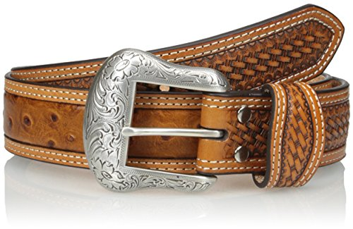 Nocona Belt Co. Men's Cognac Ostrich, 38
