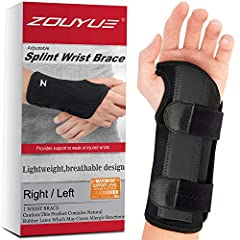 MAXIMUM SUPPORT FOR YOUR WRIST: This wrist brace carpal tunnel will give your injured wrist the support it needs during sleep or rest. The hand brace is ideal for those suffering from carpel tunnel syndrome, arthritis and tendon it is or for those th...
