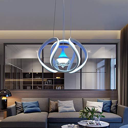 YUN Clock Leuchten LED Pendelleuchte Dimmbar, Hängelampe, Hängeleuchte, Wohnzimmerlampe, LED Esszimmerlampe, Esstischlampe, Pendelleuchte Esstisch, Pendellampe [Energieklasse A++]