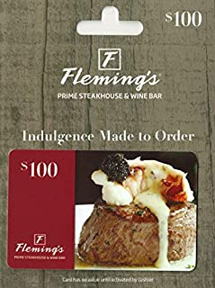 Flemings Prime Steakhouse & Wine Bar Gift Card $100