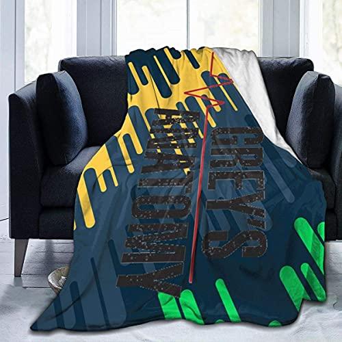 Greys-Anatomy - Manta de franela cálida y acogedora para sofá, viajes, yoga, camping, picnic, cine, hogar, playa, tamaño para guardería, niños, adultos, 60 x 50 pulgadas