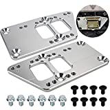3mirrors Swap Motor Mounts Adjustable 4 Positions Billet Aluminum Compatible with LS Swap LS Conversion 551628 for SBC Vehicle to LS Engine Full Kit