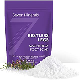 New Restless Legs Magnesium Chloride Flakes 3lb – Absorbs Better than Epsom Salt - Unique Foot Soak Formula For RLS Syndrome and Leg Cramps Treatment - With USDA Organic Orange, Cedarwood & Lavender