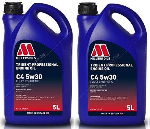 Millers Oil Trident 5W30 C4 Aceite de motor totalmente sintético, 10 litros