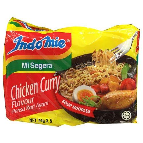 Indomie Instant Soup Noodles/ Chicken Curry Flavour / Total 10 packs x 74g