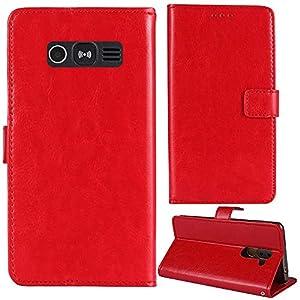Lankashi Stand Premium Retro Business Flip Leather Case Protector Bumper For Doro 1360/1362 2.4