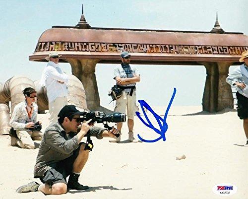 JJ J.J. ABRAMS SIGNED 8X10 PHOTO AUTOGRAPH STAR WARS FORCE AWAKENS PSA B