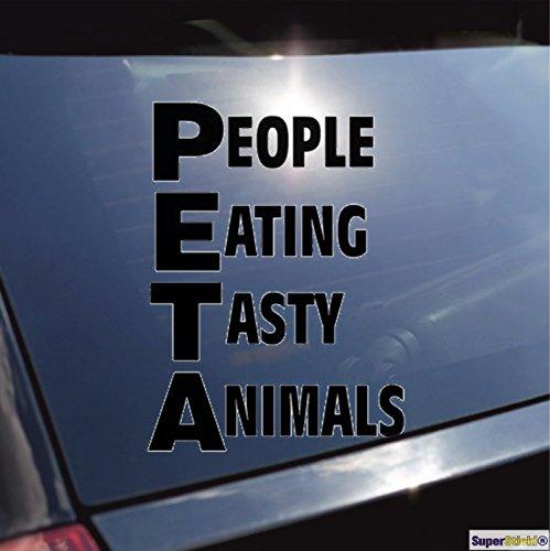 SUPERSTICKI PETA People Eating Tasty Animals witzig Aufkleber ca. 20 cm Autoaufkleber Tuningaufkleber Hochleist