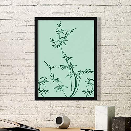 DIYthinker Schilderij Japanse Cultuur Bamboe Eenvoudige Beeld Frame Kunst Prints Schilderijen Thuis Muursticker Gift