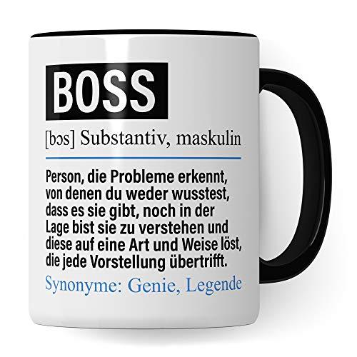 Pagma Druck Tasse Boss lustig, Boss Geschenk, Spruch Führungskraft Kaffeebecher Geschenkidee, Kaffeetasse Beruf Firma Teetasse Becher