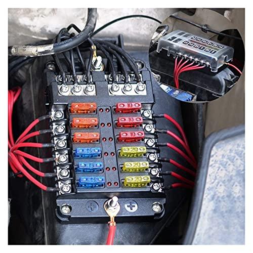 JIAQING 6/12 vía Tenedor de la Caja de fusibles 8 Panel de conmutación de la pandilla 12V con voltímetro Digital Puerto USB Dual Fit para Accesorios para automóviles de Barco Marino