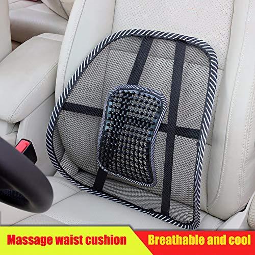 AZHUI Universal-Netz Rückenstütze for Bürostuhl Massagesessel Rückenlehne mit verstellbarem Gurt Mesh-Lordosenstütze for Autositz/Back Pain Relief