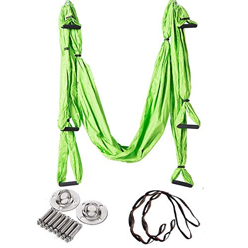 Why Should You Buy Dertyped-dc Aerial Yoga Swing Set Aerial Yoga Hammock 6 Handle No Stretch Hong Ko...