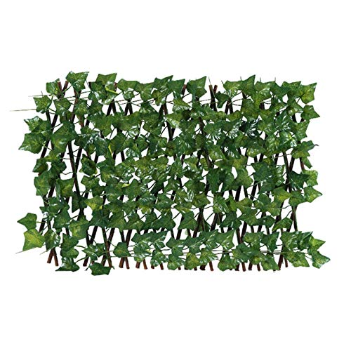 Expanding Trellis Fence Retractable Fence, Artificial Garden Plant Fence UV Protected Vine Privacy Fence Faux Ivy Fencing Panel Wall Screen for Backyard Home Decor Greenery Walls