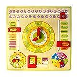 TOYANDONA 1 Unid Reloj de Juguete Educativo de Madera Colorido Reloj de Tiempo de Aprendizaje Temprano Juguetes para Niños Pequeños
