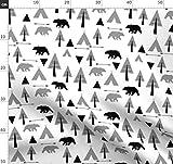 Schwarz Und Weiß, Bär, Neutral, Hirsch, Tipi Stoffe -