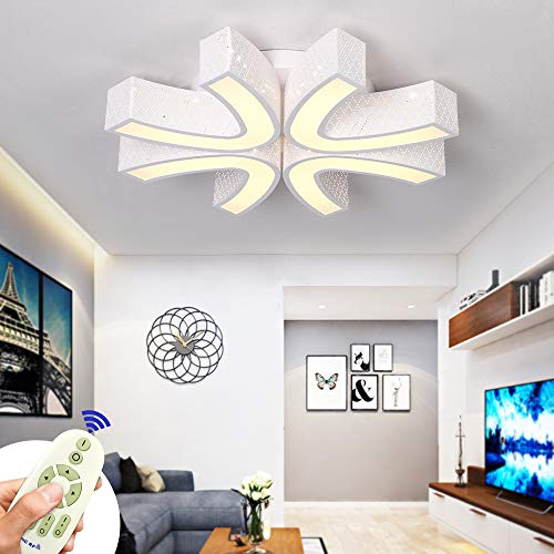 COOSNUG 54W Dimmbar Ultraslim LED Deckenleuchte Modern Deckenlampe Schlafzimmer Küche Flur Wohnzimmer Lampe 3000-6500K