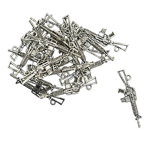 joyMerit 20 Pieces Pendants Charms Jewelry Findings for DIY Necklace Bracelet Making - Style - Toy Gun