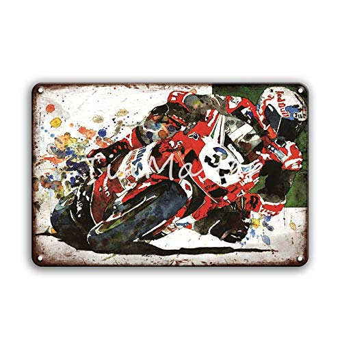 ivAZW Metal Poster Tin Sign Plaque Nostalgic-Art Race Car Motorcycles Garage Home Decor Vintage Iron Painting Pub Bar 20X30Cm 50320