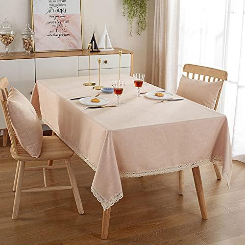 XQSSB Mantel para Mesa de Cocina o Salón Hojas Rectangular Sabana de Algodon para Las Mesas Rectangular Manteles Amarillo 140 × 220cm